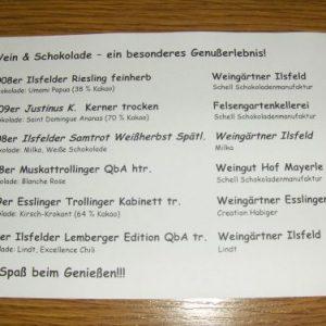 Die Landfrauen 2010 – Schokolade und Wein – Vortrag am 17.11.2010